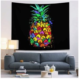 Colorful Pineapple Tapestry Wall Hanging 80x60